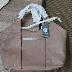 Brand New Vince Camuto Tan Leather Tote Bag